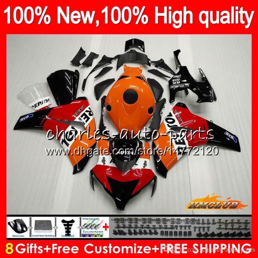 Honda CBR1000 RR CBR1000RR 08 09 10 11 79HC.0 CBR 1000 RR CC R 1000CC CBR 1000RR 200 2009 2010 2010 년 공동 키트 Repsol 오렌지