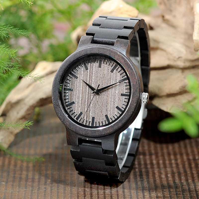 BOBO BIRD Holz-Mann-Uhr-Förderung Mal Holz-Quarz-Armbanduhr Relógio masculino Holz Valentinstag in Geschenkbox