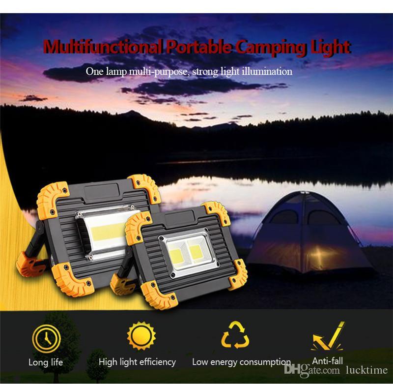 LED COB Lámpara multifunción portátil 20W impermeable recargable proyector portátil reflector jardín exterior caza caza luz de trabajo