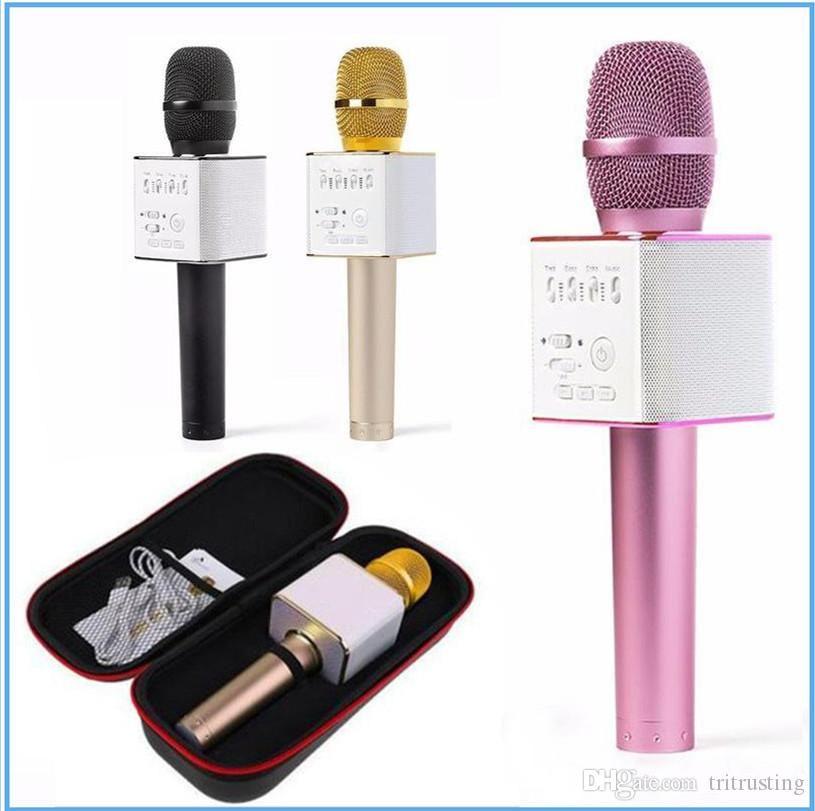 Q9 Bluetooth Wireless Microphone Tragbare Handheld Wireless KTV Karaoke Player Dual Horns Lautsprecher Lautsprecher für iPhone Samsung