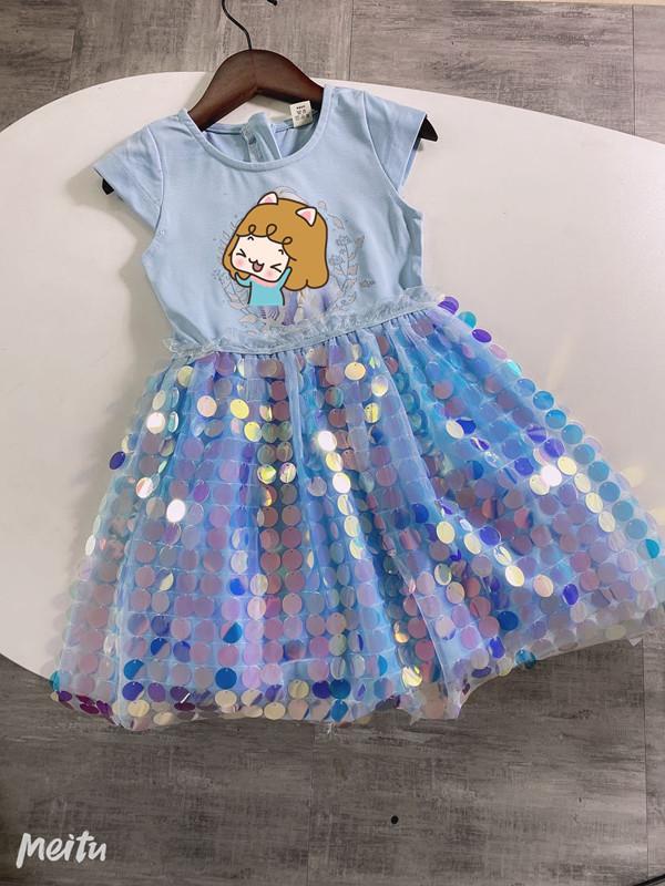 الفتاة اللباس الصيف الطفل الصيف فستان الأميرة ليتل الفتاة شبكة الترتر تنورة سنو ندعه يذهب