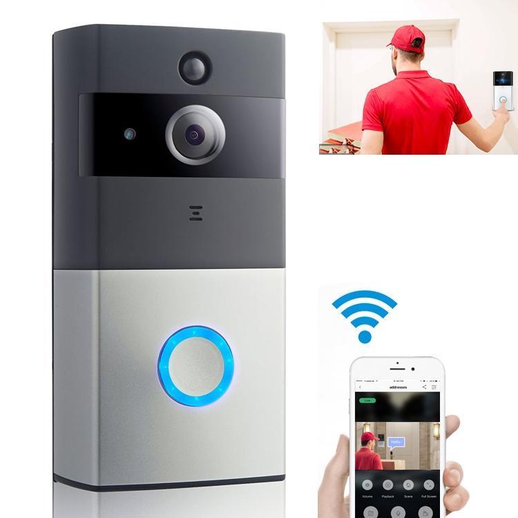 كاميرا IP الاتصال الداخلي عبر الفيديو WIFI الفيديو باب الهاتف جرس الباب WIFI الجرس كاميرا للشقق IR إنذار الأمن الجرس اللاسلكي فقط