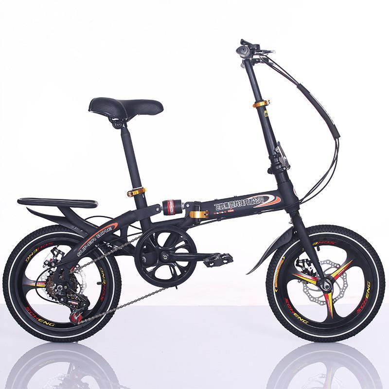 geçirmez Bisikletler Dinlenme bisiklet bayan öğrenci Seyahat araçları Şok Son 16 inç katlanır bisiklet diskli fren taşınabilir tip kat bisiklet