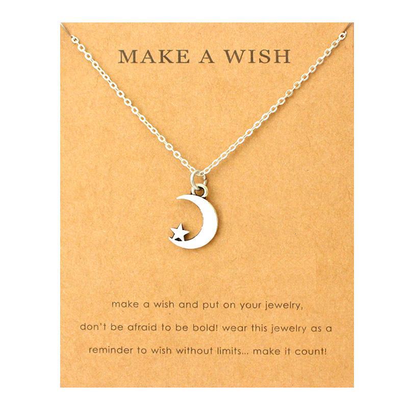 Gioielli Moon Star Mountain pendente Infinito amore del cuore della collana di compleanno laurea Best Friends regalo Lover Donne