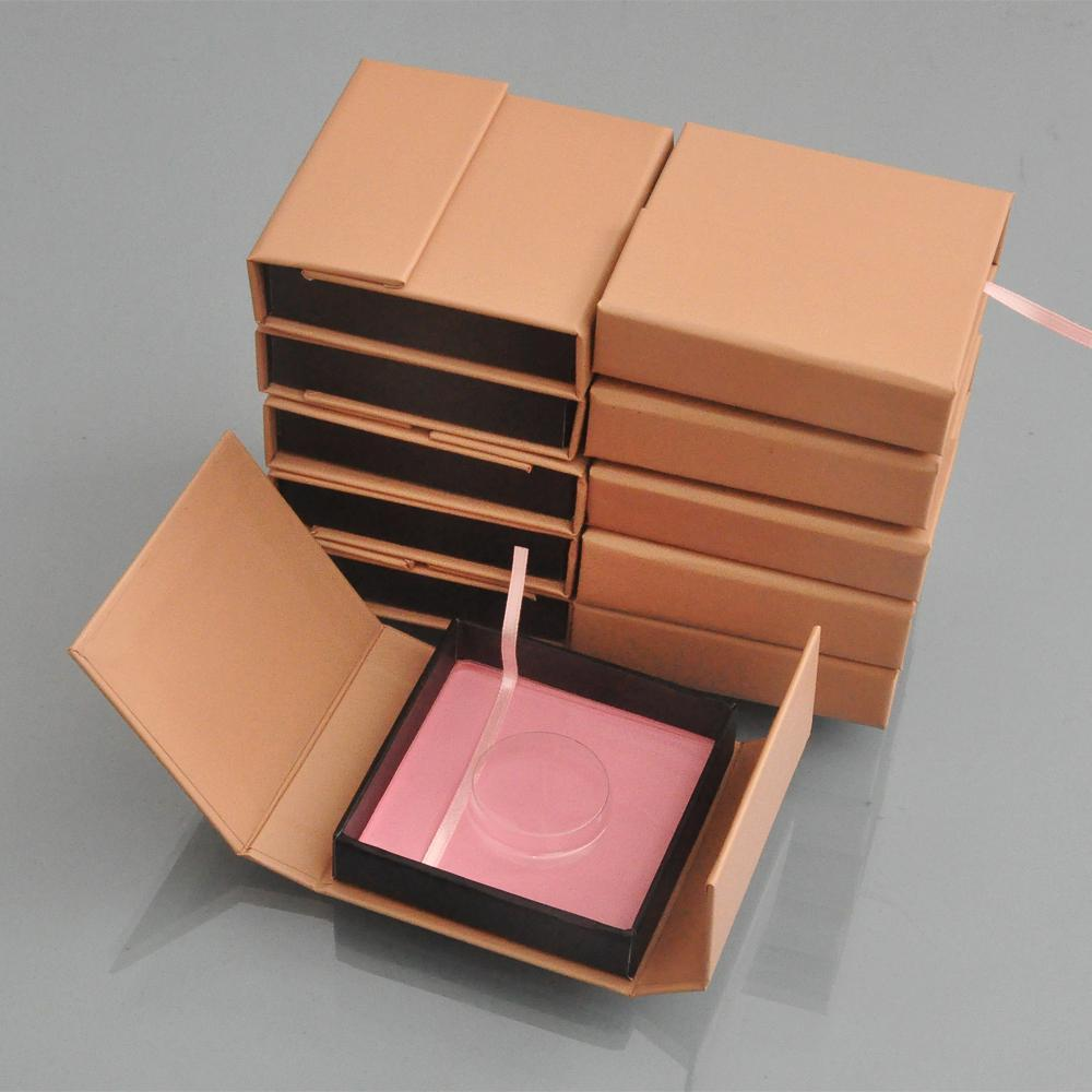 20pcs/pack False Eyelash Packaging Box Lash Boxes Custom Your Logo Fake Mink Eyelashes Extension Strip Square Magnet Case Empty