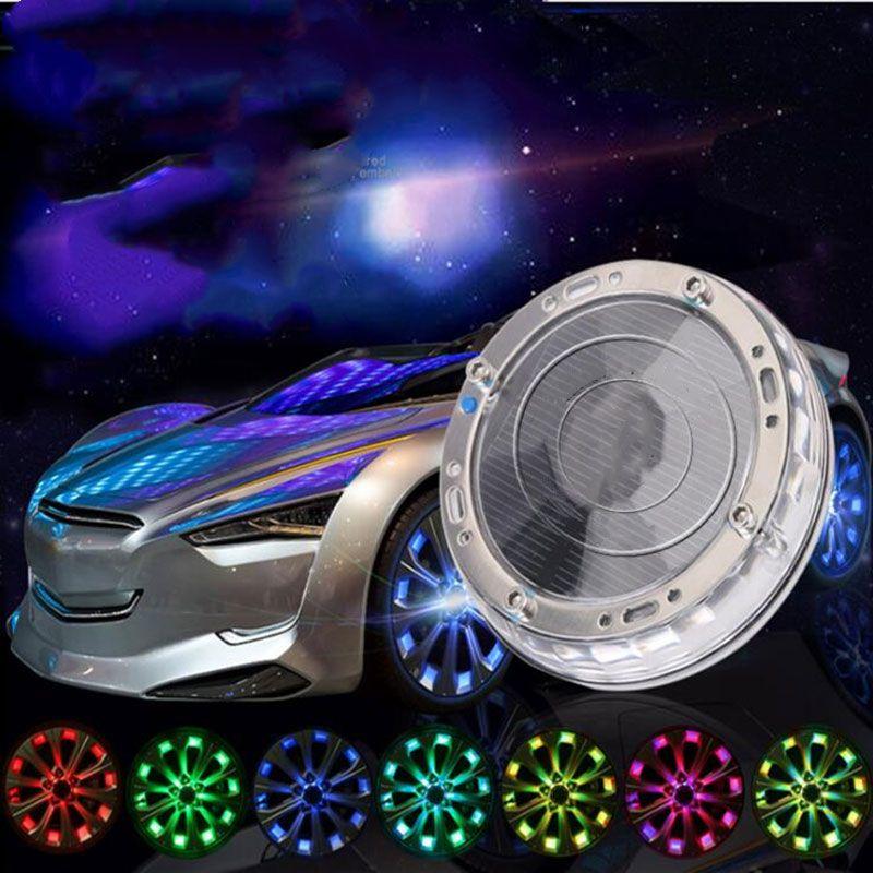 Voiture décoration de voiture pneu pneu hub énergie solaire LED lumière auto neon flash coiffe de voiture étanche LEDs de la lumière décorative lumière universelle