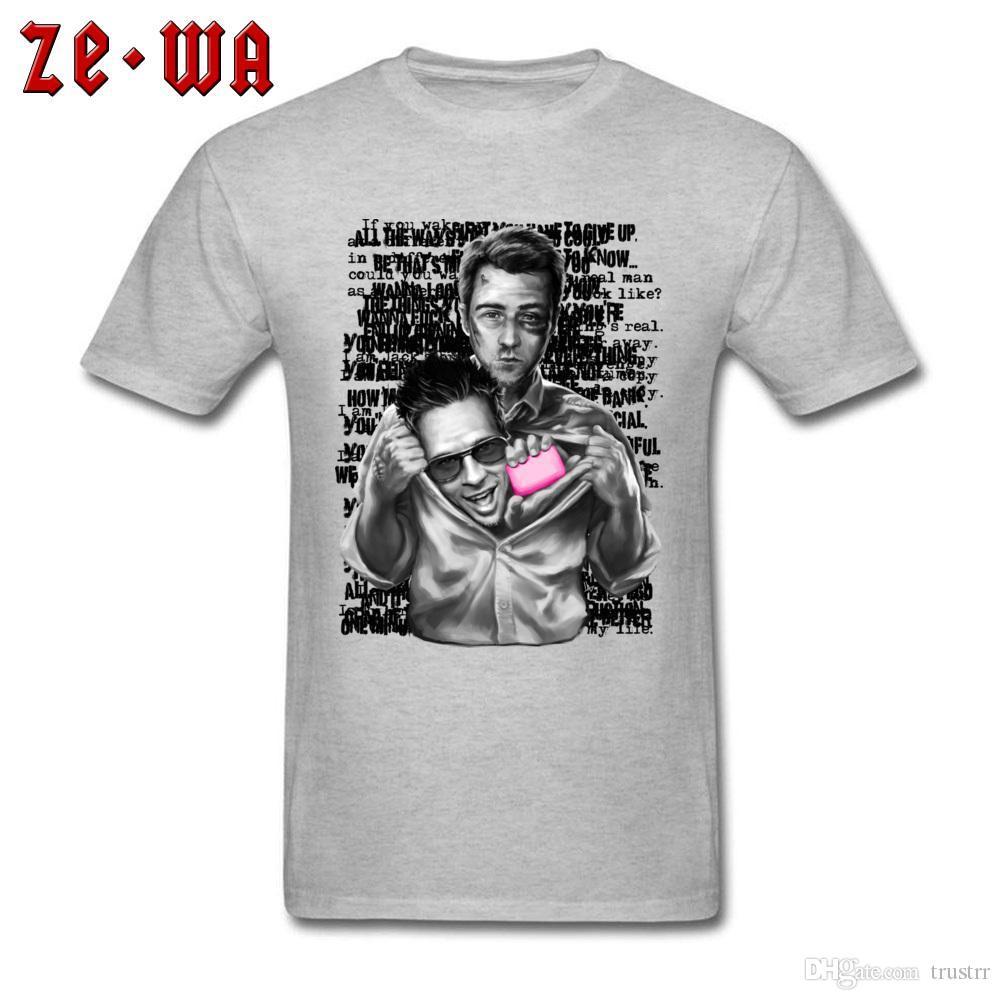 2020 Grey T Shirt For Man Cotton T-shirt Streetwear Comics herói roupas Impresso Grupos engraçado Funky do Tops Hip Hop Tees personalizado