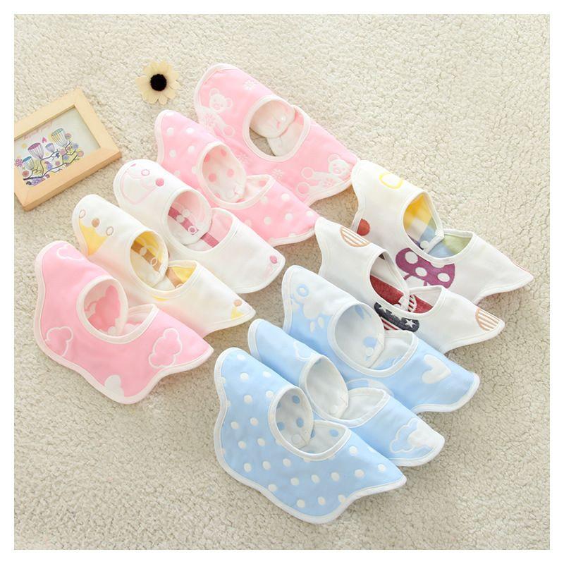 Star Pattern Saliva Towel Baby Baby Bib Accessories Creative Infant Burp Cloths