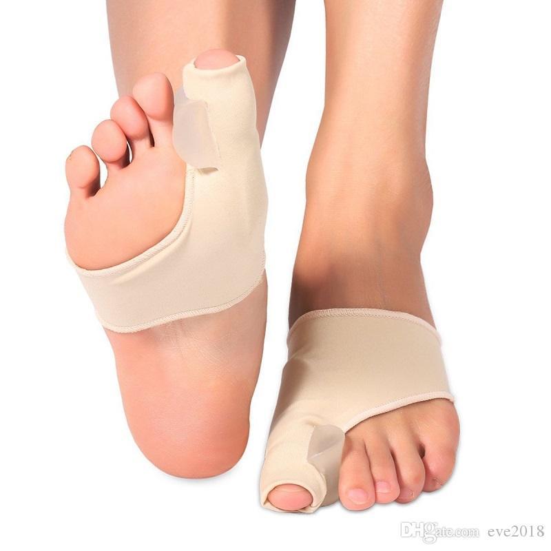 Big Bone ortopédico Joanete correção Pedicure Meias de Silicone de hálux valgo corrector Suspensórios Toes Separador Pés Cuidados Ferramenta WB1232