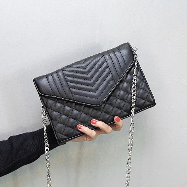 Neuer Kette Frauen Designer-Handtaschen Dame Schulter diagonale kleine Beutel weibliche Art und Weise beiläufiger Abend Geldbeutel 3colors no2302