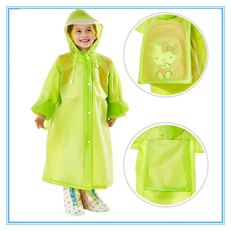 الأزياء حقيبة المدرسة مقنع معطف واق من المطر معطف واق من المطر EVA الأطفال المعطف الاطفال ملابس ضد المطر السفر معطف المطر ماء المطر ملابس 5 ألوان DBC DH0737