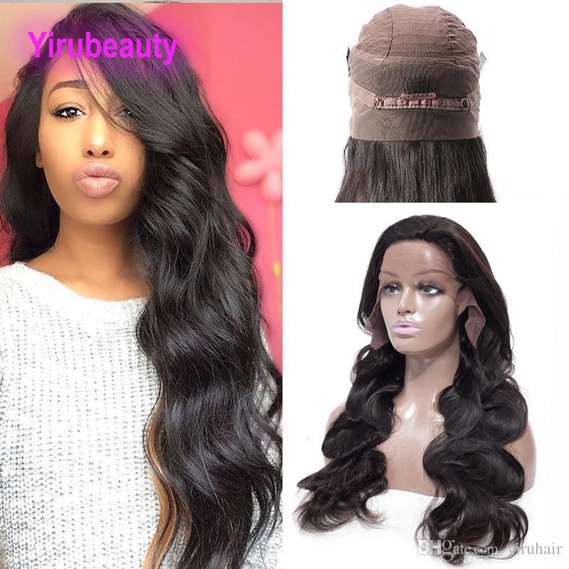 Parrucca frontale del corpo del corpo della malesiana del corpo dei capelli umani 360 con il bambino Har 360 parrucche del merletto della parrucca di pizzo di colore naturale della parrucca regolabile 360 parrucca frontale