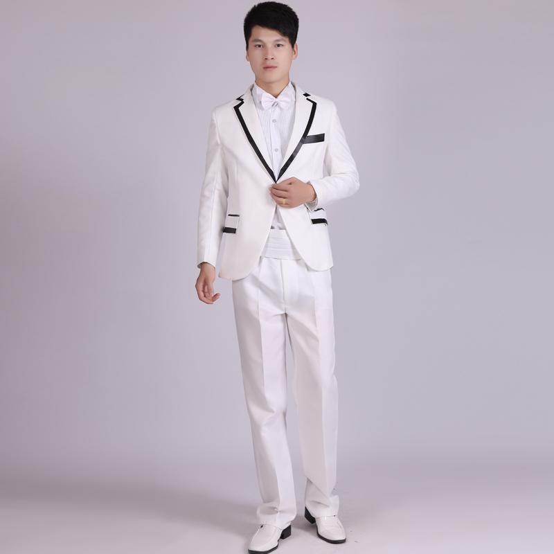 2 Pieces Men's Dresses Mens Wedding Dresses Wedding Suits Photo Studio Troupe Choir Theme (Jacket+Trousers) 2019