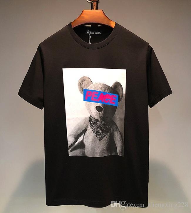 Nouveau 2020 D'été T-Shirt De Luxe Designer Hommes Coton T-Shirt Hommes Femmes De Bande Dessinée Anime ours imprimé Casual Manches Courtes T-Shirt Taille S-XXL