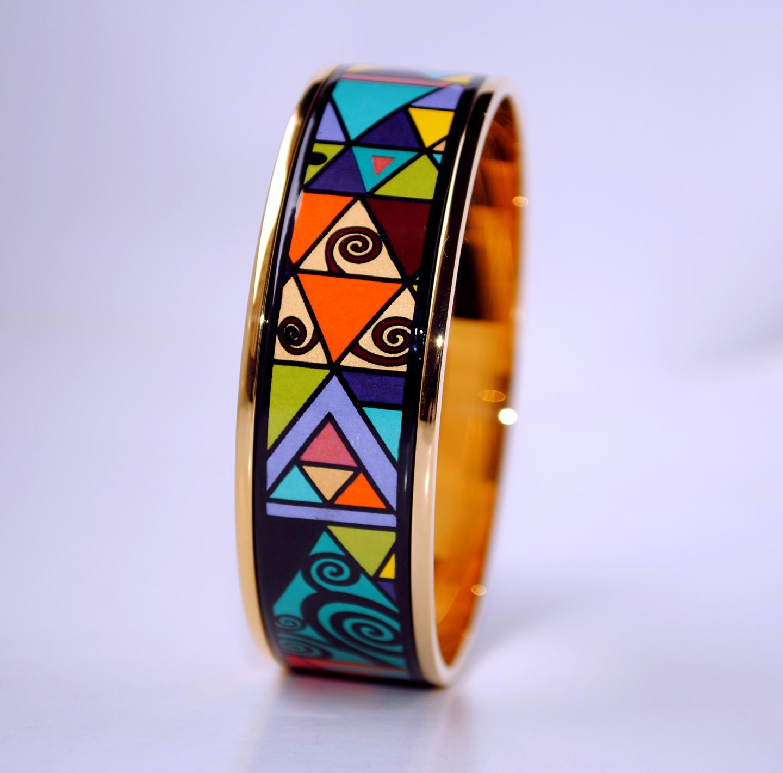Bracelet de bracelet en amarel Geometric Fantas Series 18 carats pour femme Bracelets de qualité supérieure Bracelets Bracelets Width 20mm Fashion Wendding Bijoux