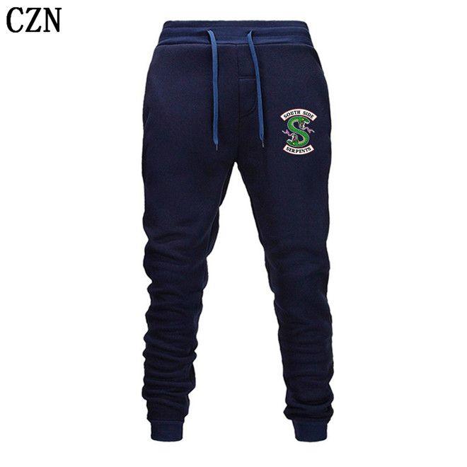 Riverdale primavera y otoño pantalones deportivos nuevos hombres y mujeres de moda los pantalones ocasionales de los hombres pantalones elástico del pantalón casual EL-5