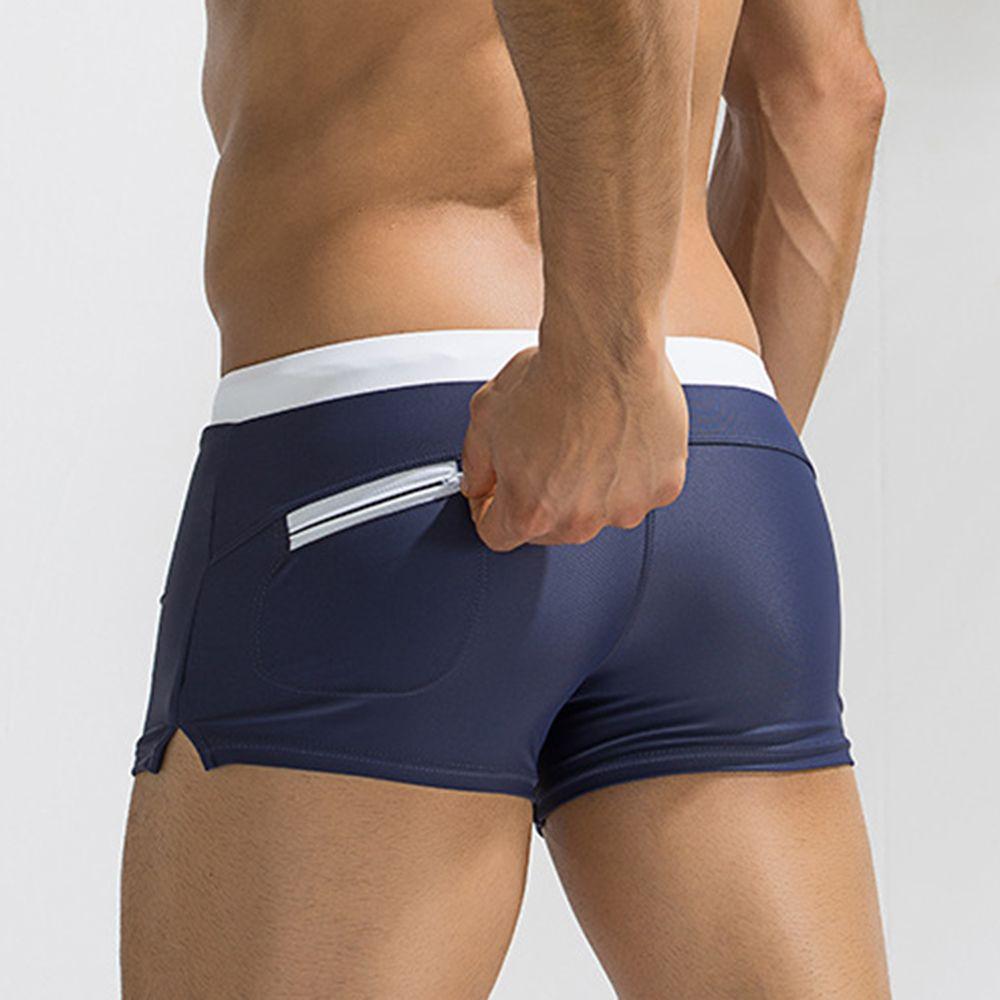 Useful Pocket Swimwears Men Sexy Swimming Trunks Hot Swimsuit Smens Swim Briefs Beach Shorts Mayo 2018 New Surf Beach Suits