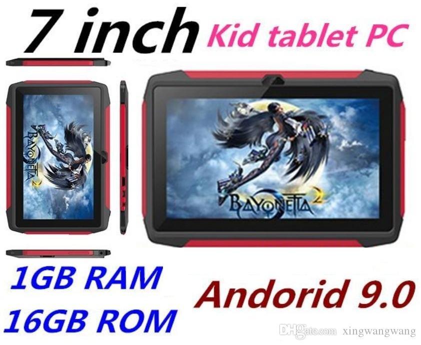 أحدث طفل اللوحي Q98 رباعية النواة 7 بوصة 1024 * 600 HD شاشة الروبوت 9.0 AllWinner لA50 الحقيقي Q8 1GB RAM 16GB مع مصنع واي فاي بلوتوث