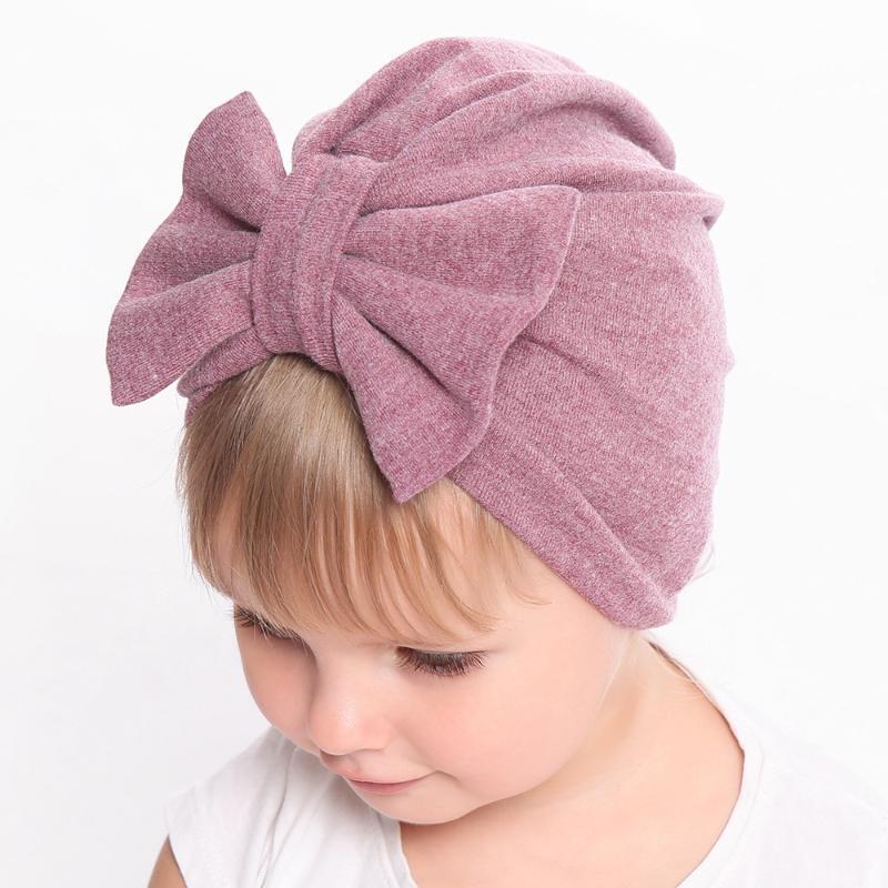 0-24M Winter Autumn Baby Girl Hat Big Bow Cotton Wool Knitted Thick Warm Baby Hat Kids Newbworn Bonnet Cap Beanie for Girls