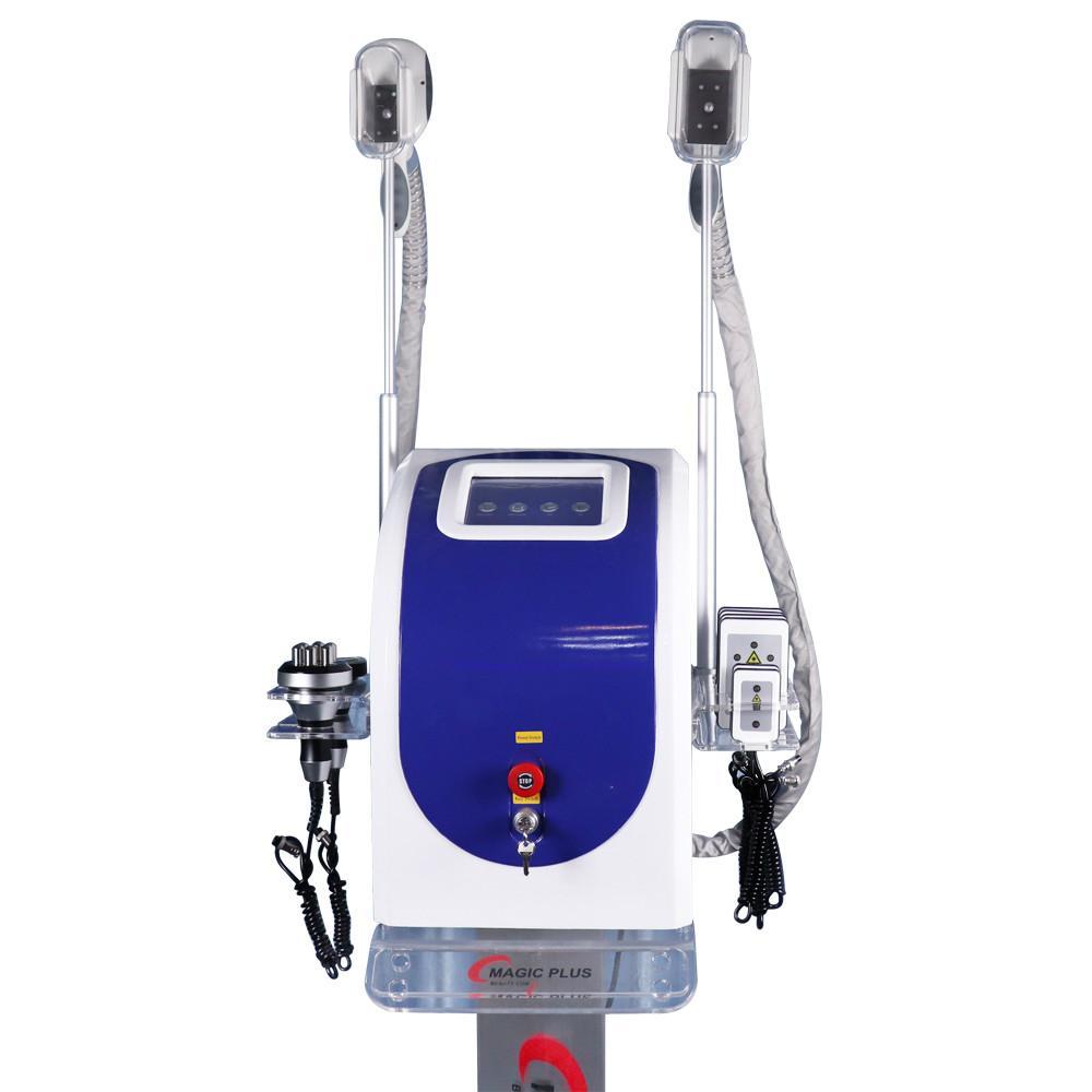 2020 5 multifunzionali in 1 macchina Cryolipolysis con Doppia Cryolipolysis + laser lipo + cavitazione + rf che dimagrisce la macchina del CE / DHL On Sale