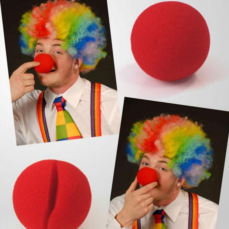 1 PC Party Sponge Ball Red Clown Magic Nose for Halloween Christmas Party Masquerade