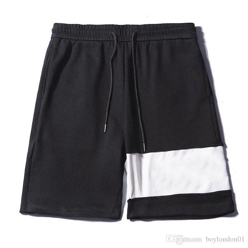 유명한 남성 스타일리스트 반바지 스웨트 팬츠 남성 여성 여름 반바지 바지 패션 편지 자수 남성 반바지 크기 M-XXL