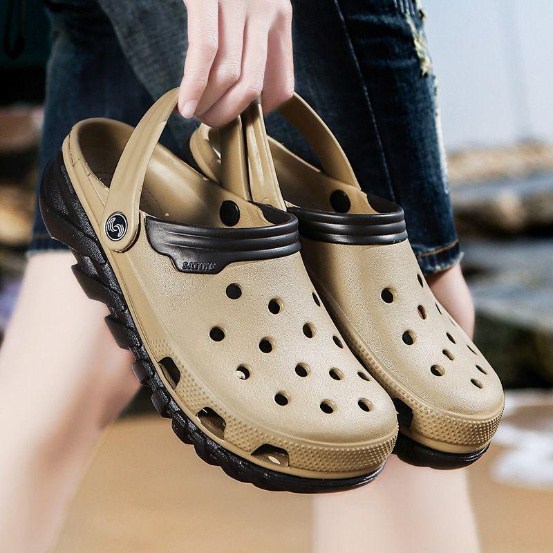Retourner Original Classic Clogs Jardin Flops Chaussures Hommes eau Summer Beach Aqua Slipper Outdoor Sandales jardinage Chaussures grande taille 46
