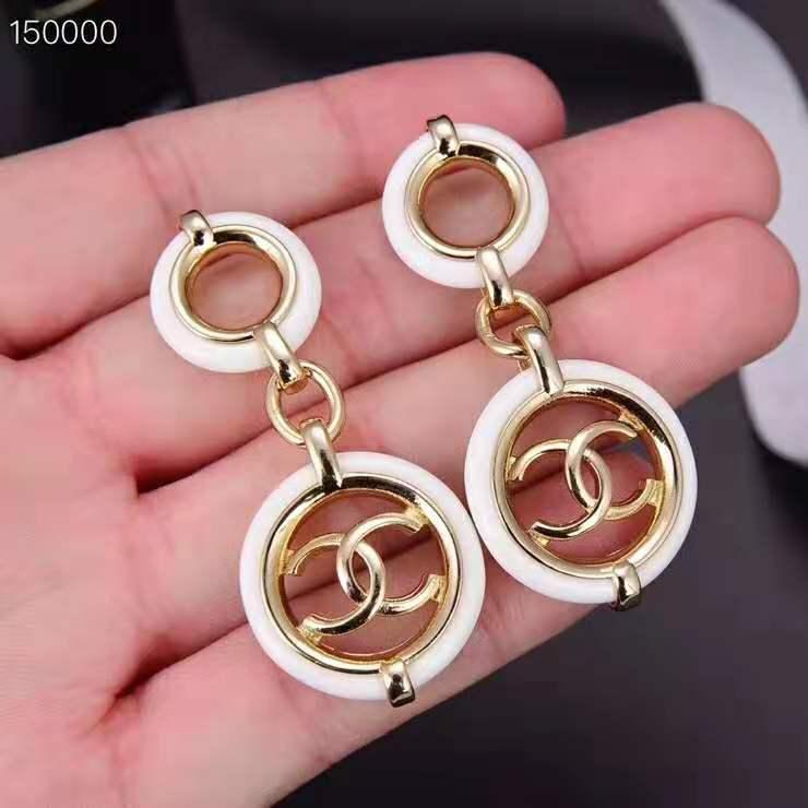 Оптовая-и роскошные США на заказ новые серьги S925 серебряные иглы белые простые дикие кольца серьги