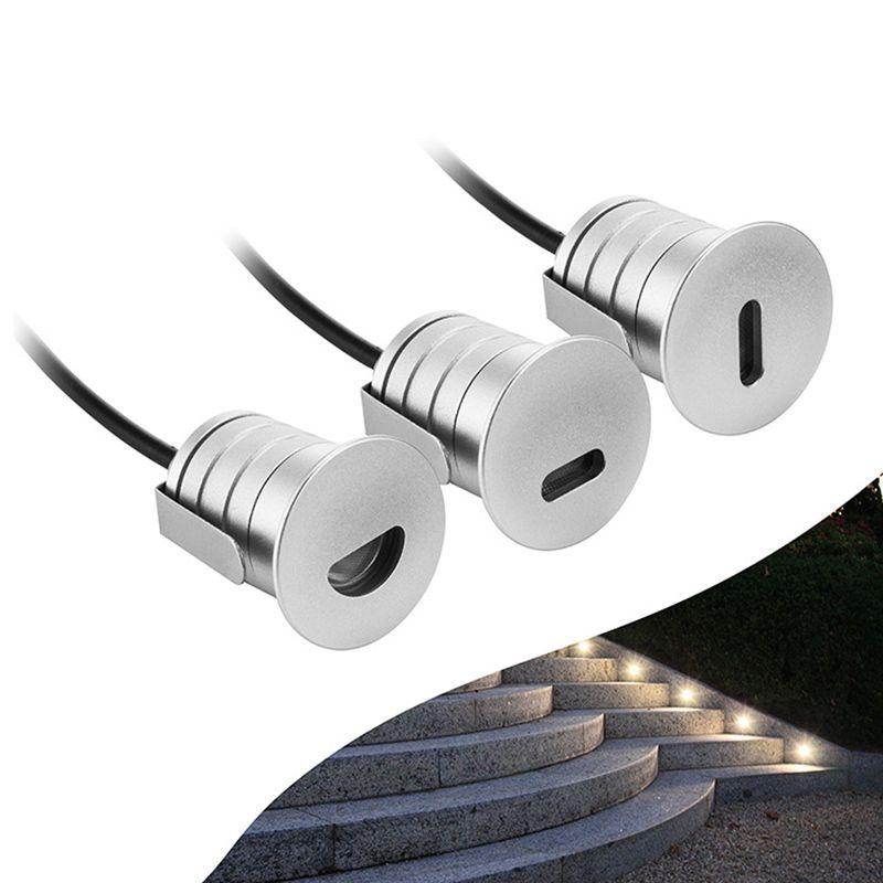 DC12V 1W IP67 LED утопленный Бытовой Лестничный Свет водить стены Бра освещения Алюминиевого Крытого На этапе лампа Лестницы лампе