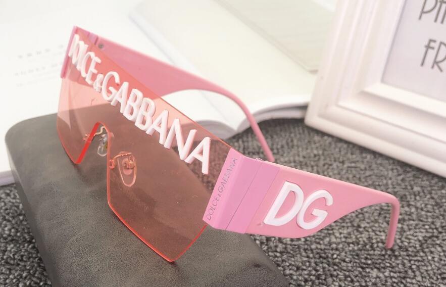 موضة جديدة فاخر مصمم النظارات الشمسية الرجال النساء سلسلة إطار النظارات الشمسية موضة النظارات الشمسية حماية من الأشعة فوق عدسة طلاء مرآة