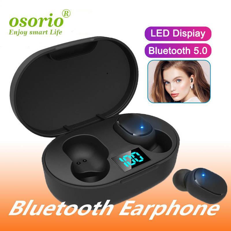 Mini TWS sans fil écouteurs E6S casque Hifi Sound Bluetooth casque 5.0 avec double microphone Led Affichage écouteurs appairage automatique Casques d'écoute