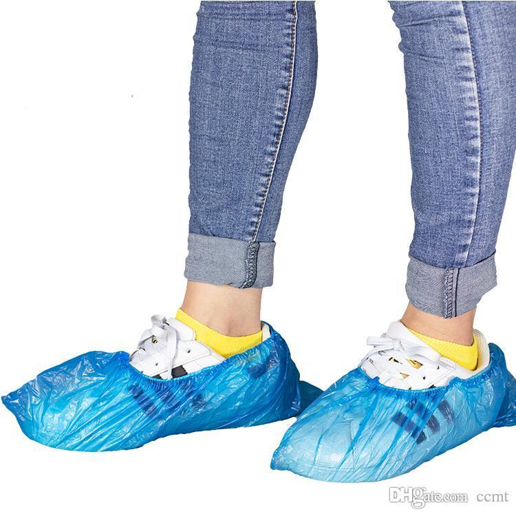 Descartável proteção Resistência PE aos germes descartável tampa sapato antiderrapante PE / CPE normais Shoecover anti skid galochas Shoecover atacado