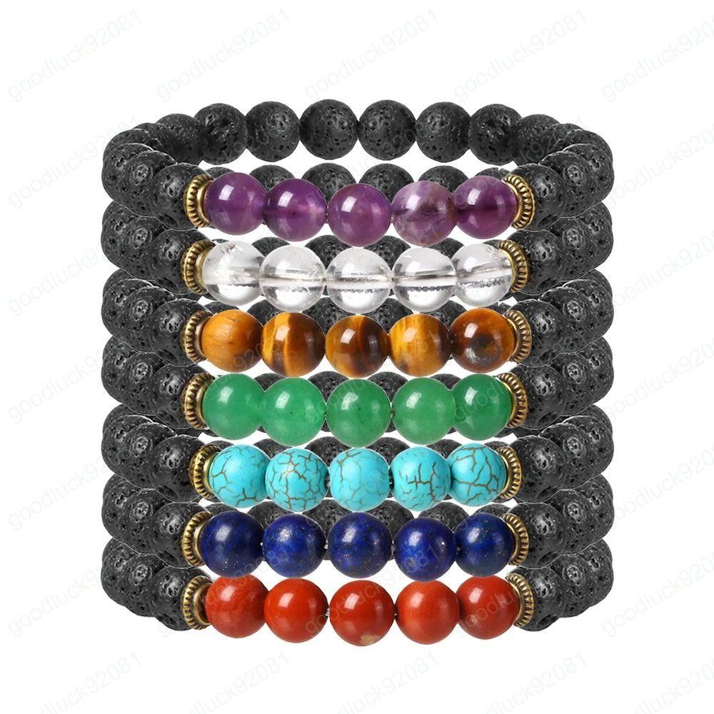 Pedra Natural Tiger Eye Turquesa Pulseira essenciais Oil Difusor designer pulseiras jóias mulheres pulseiras homens pulseiras jóias