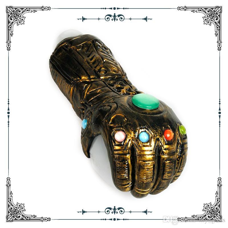 Nouveau Big Pipe en verre à la main avec l'art pipe cuivre Thanos Infinity Gauntlet pipes à tabac en verre lourd Vente chaude Livraison gratuite
