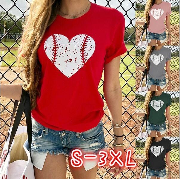 Полиэстер хлопок шаблон бейсбол любови напечатана футболка европейская и американская лето с короткими рукавами шея модель случайного ветер взрыв