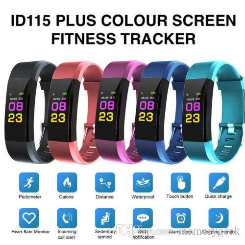 Kutu DHL ile Apple Android telefonlar için ID115 Artı Akıllı Bilezik Spor Tracker Akıllı İzle Nabız Watchband Akıllı Bileklik