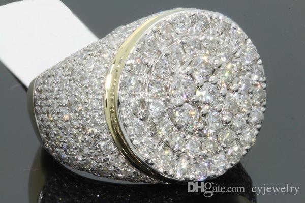 الأزياء القادمون الجدد فاخر زركون خواتم الذهب اللون للنساء مجوهرات الزفاف الاشتباك خاتم الزركون
