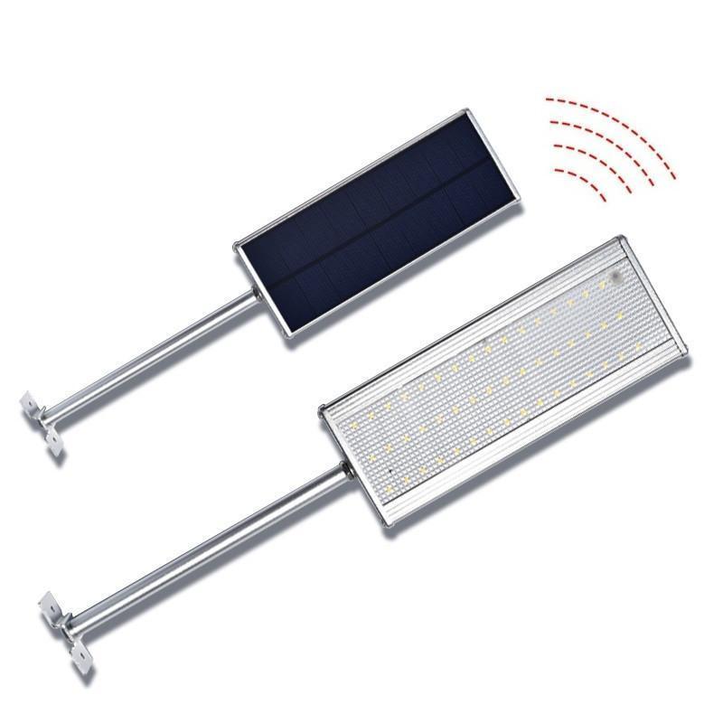 Solar LED Street Lights 1000 Lumens Microwave Radar Movimento Light Sensor Solar Waterproof Rua Lâmpada de parede exterior de Segurança do ponto de iluminação