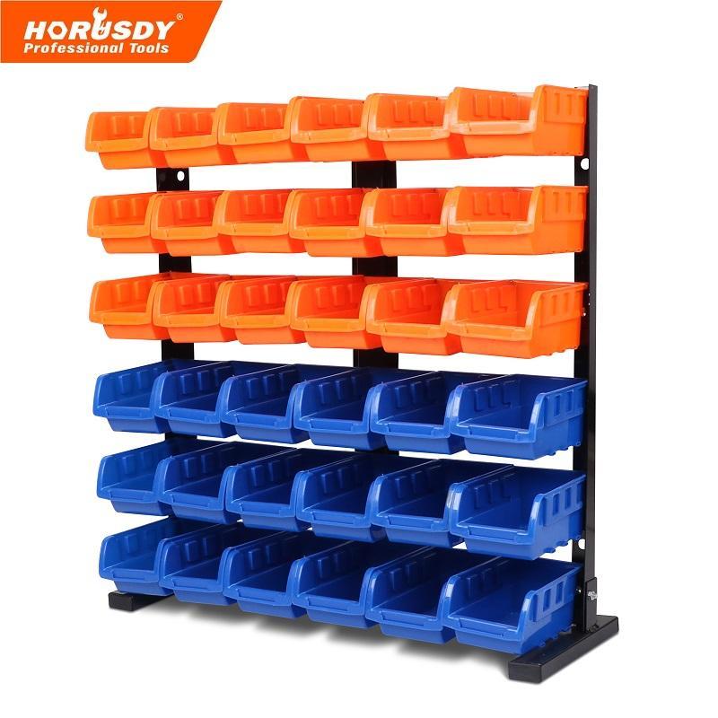 36 Pcs Bin Storage Rack Shelving Garage Storage Rack Tool Organiser Box Workshop
