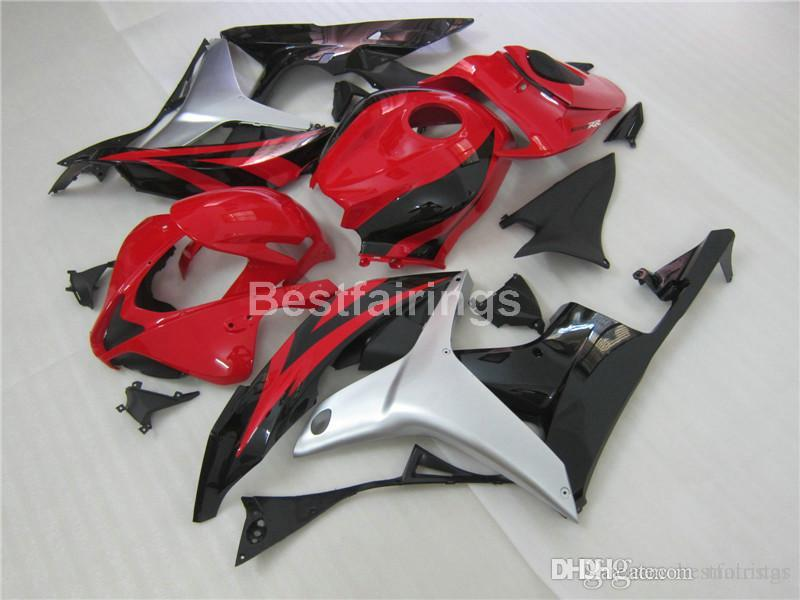 New hot injection mold fairing kit for Honda CBR600RR 2007 2008 red silver black fairings set CBR 600RR 07 08 LL33