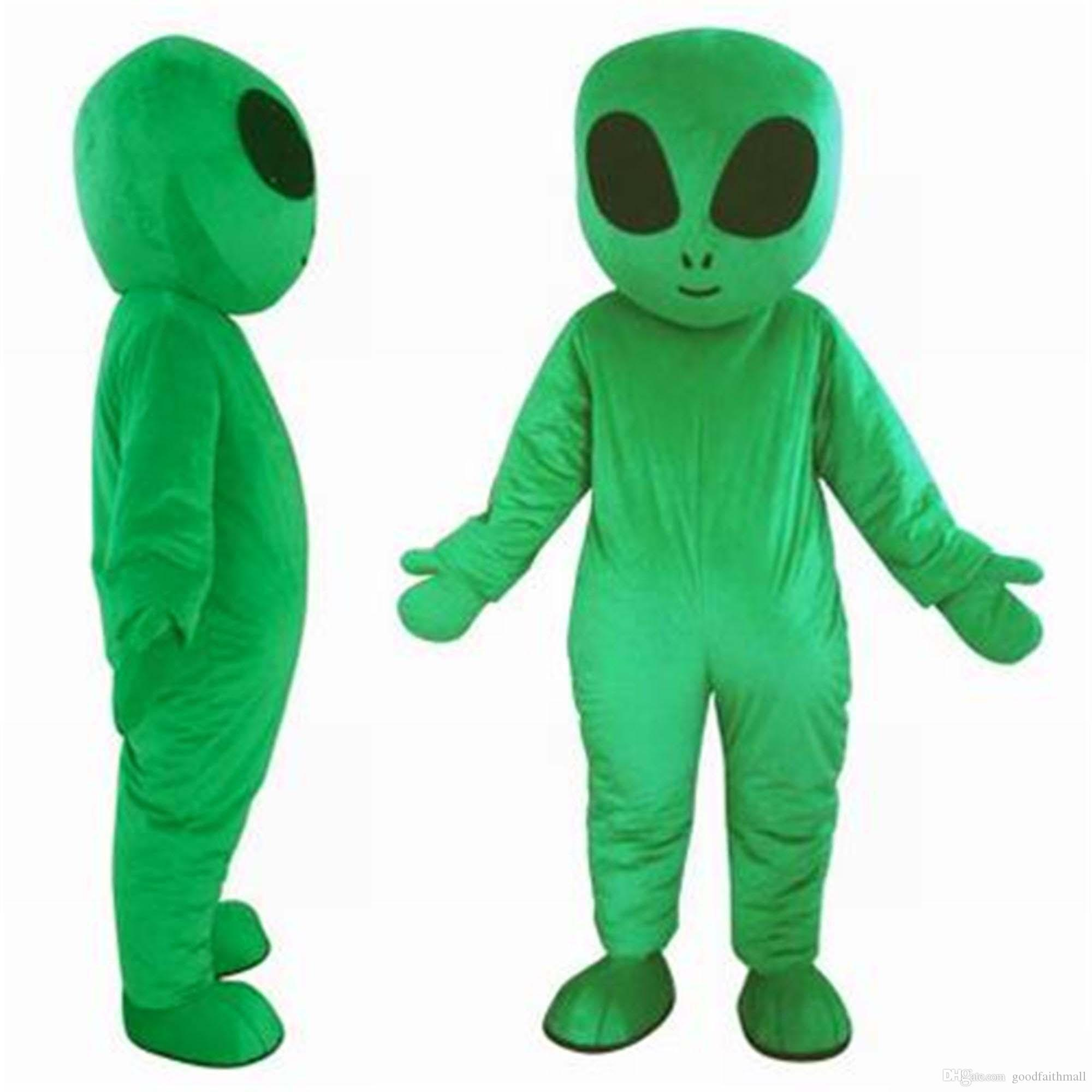 2018 High quality hot green UFO aliens mascot costume for adults E.T. alien mascot suit for sell