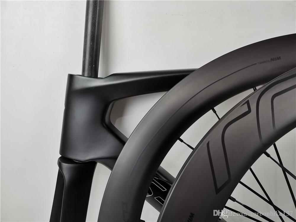 OEM 로고 700C 탄소 도로 자전거 디스크 브레이크 wheelsset 고품질 탄소 바퀴 디스크 브레이크 림 높이 38-50-60-80mm UD 매트