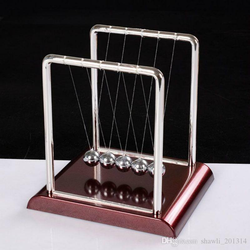 New Newtons Cradle Desk Table Decor Metal Pendulum Ball Newton Ball Physics Science Pendulum Steel Balance Ball Decorative Objects