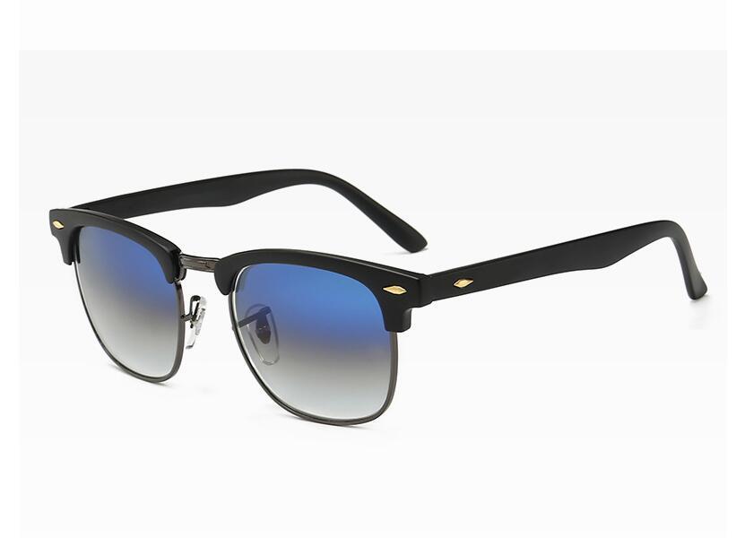 2020 новая классическая заклепка BAN пол-METALLI солнцезащитных очков для женщин и солнцезащитных очков RAY для мужчин с большими кадрами 3016