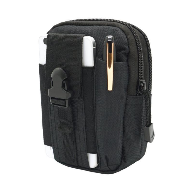 Universal Outdoor Tactical Bag Waist Belt Bag Wallet with Zipper Multifunction Phone Pouch for Men Outdoor