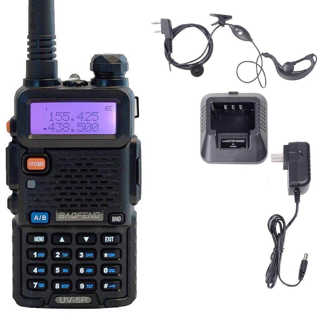 Baofeng UV-5R VHF / UHF Двойной диапазон Двухсторонняя ветчина Радиопередача Walkie Talkie Открытый междугородние коммуникационные инструменты