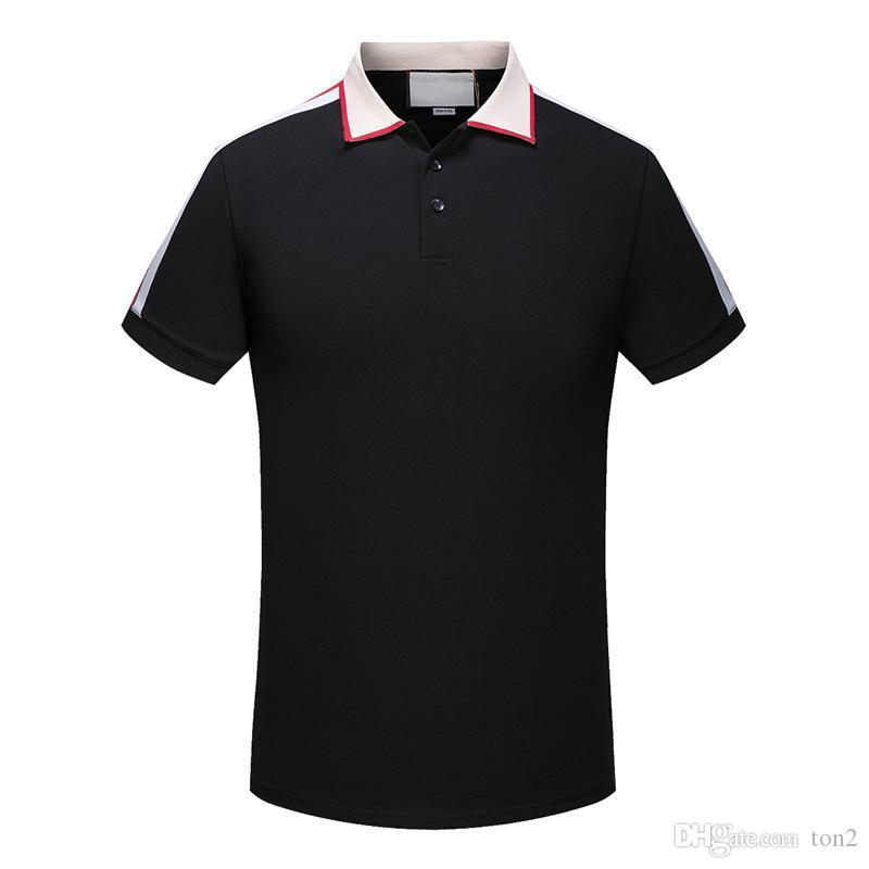 nouveau mode Polo classique Designer Polo T-shirts Hommes Polos serpent d'abeille Floral broderie High Street Fashion Polo T-shirt