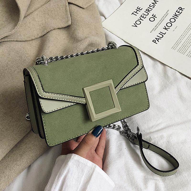 Sac femme bandoulière pour les femmes 2020 en cuir givré Sacs à main Sac A Main Ladies épaule main Messenger Bag chaîne
