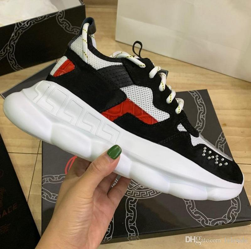 New 2020 men women black suede leather with red grey patchwork platform sneakers,designer lovers leisure thick bottom causal shoes 35-46