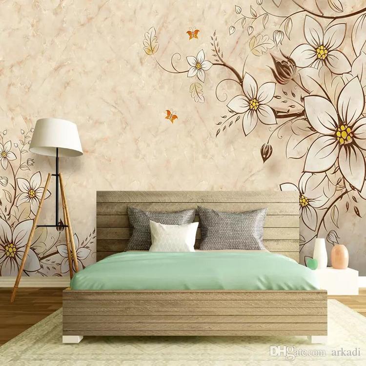 3d atmosfera de luxo europeu TV fundo pano de parede parede sala de estar sofá quarto pacote macio textura de mármore papel de parede mural
